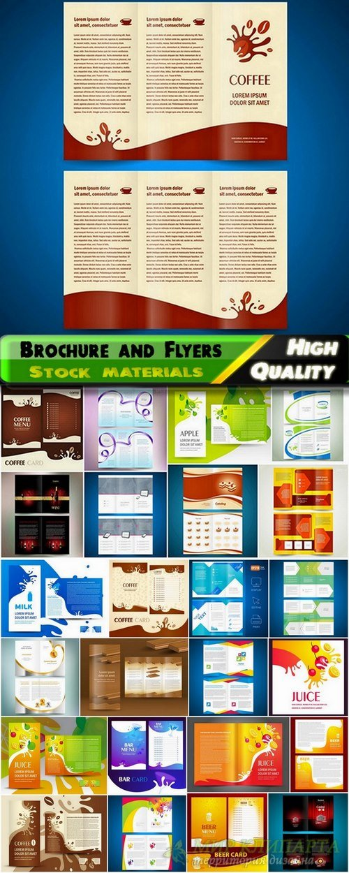 Brochure and Flyers Template Design in vector from stock #25 - 25 Eps