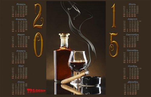 Календарь на 2015 год - Аромат гаванских сигар