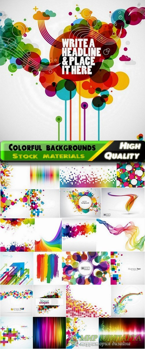 Colorful abstract backgrounds in vector from stock - 25 Eps