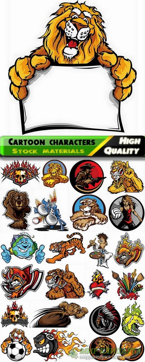 Funny cartoon characters in vector from stock #10 - 25 Eps