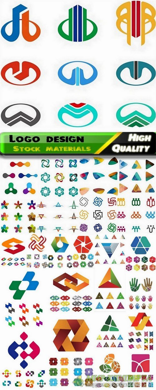 Logo Design in vector Set from stock #43 -  25 Eps