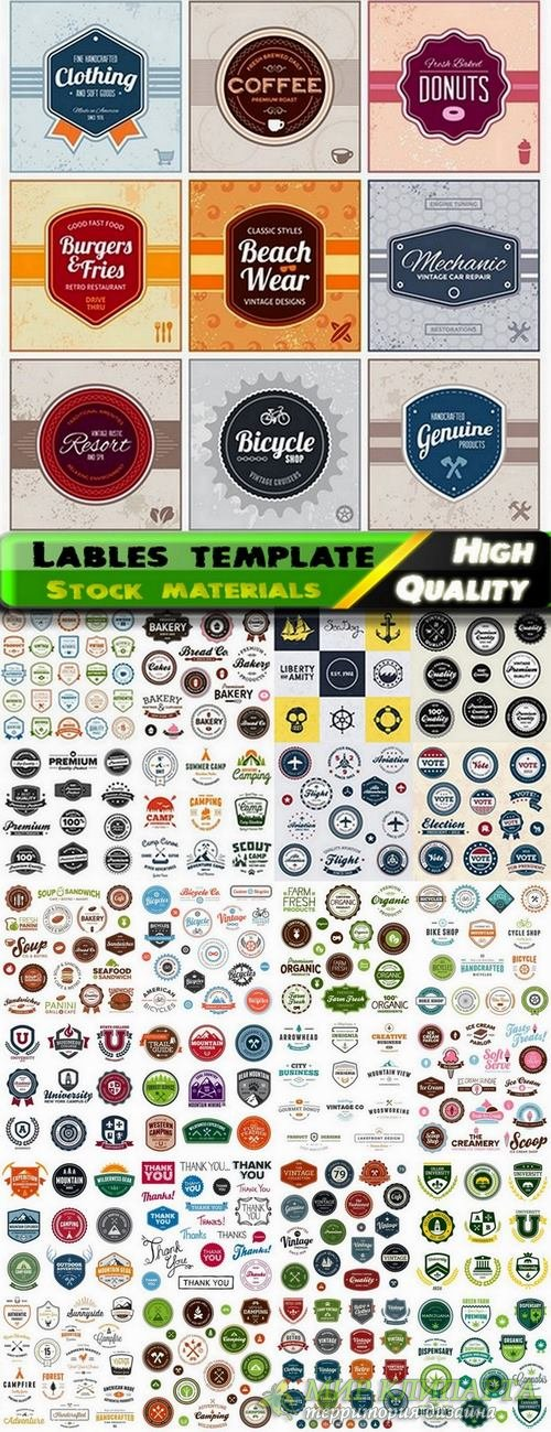 Lables template design in vector from stock set #17 - 25 Eps