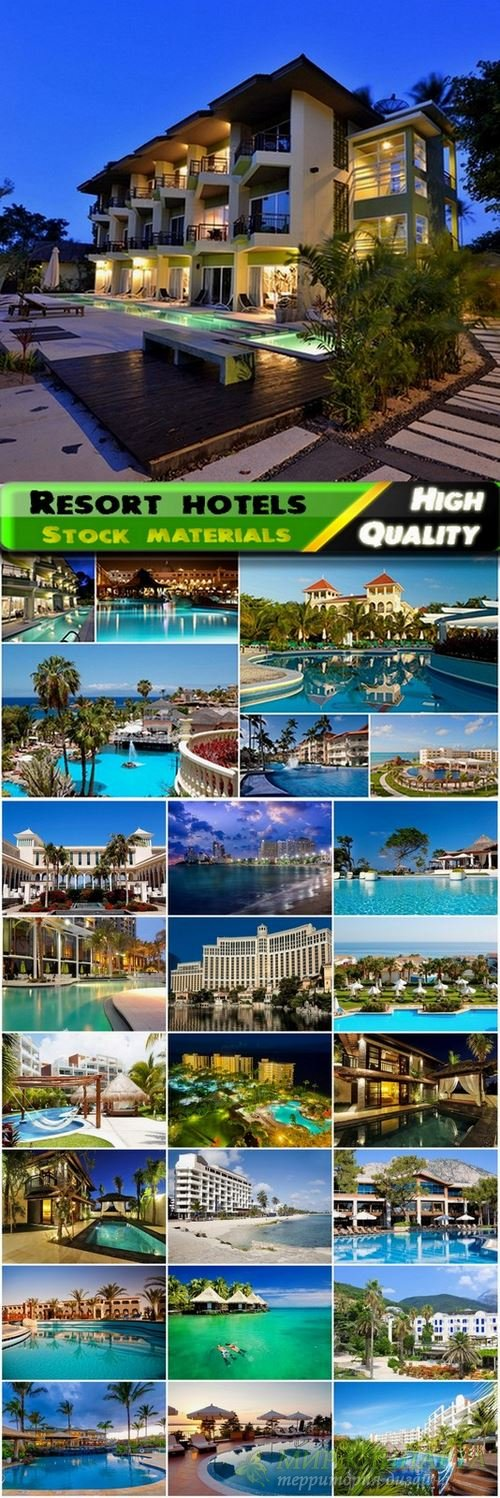 Exteriors of resort hotels Stock images - 25 HQ Jpg