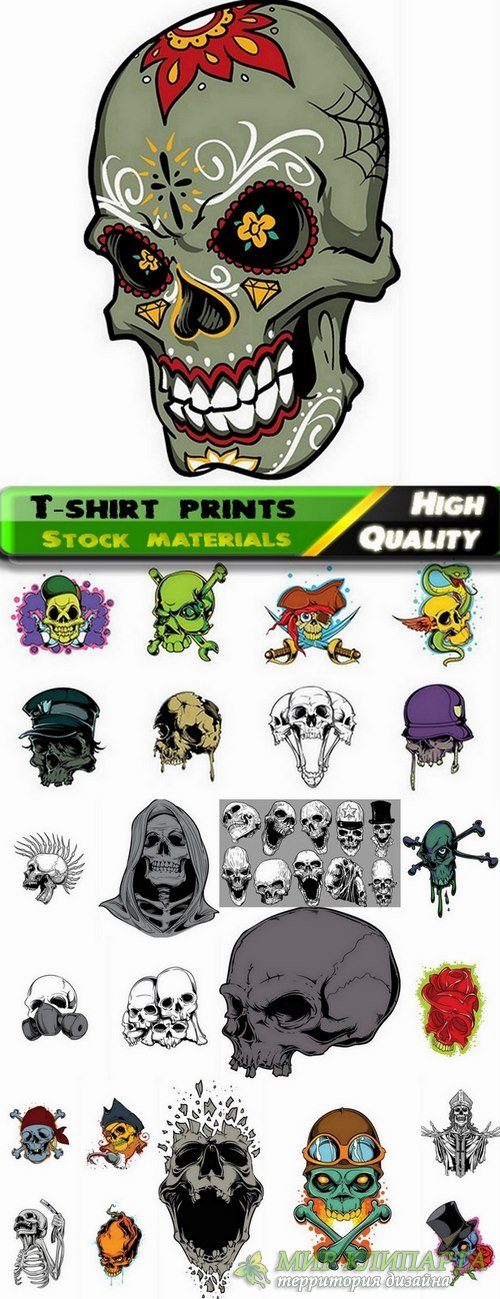 T-shirt prints design in vector from stock #15 - 25 Eps