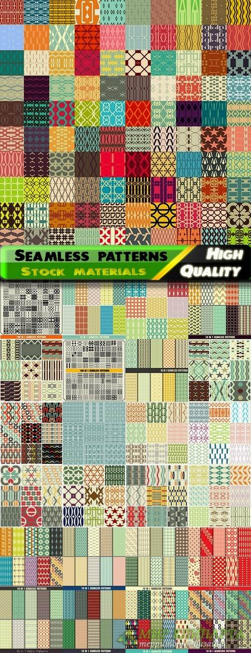 Abstract  Seamless patterns in vector set from stock #20 - 25 Eps