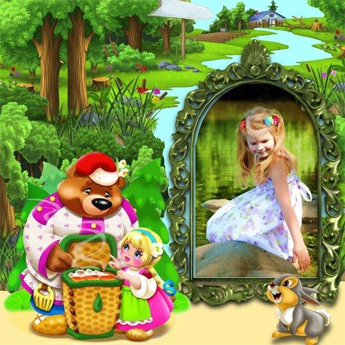 Рамка детская  - Маша и Медведь