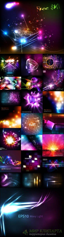 Красивые светящиеся векторные фоны