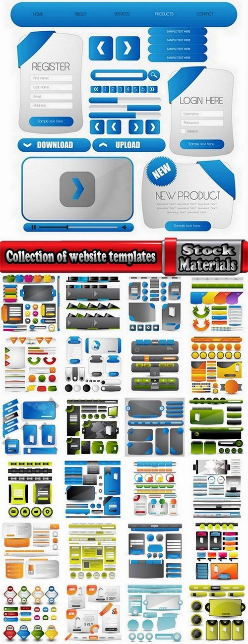 Collection of website templates #2-25 Eps