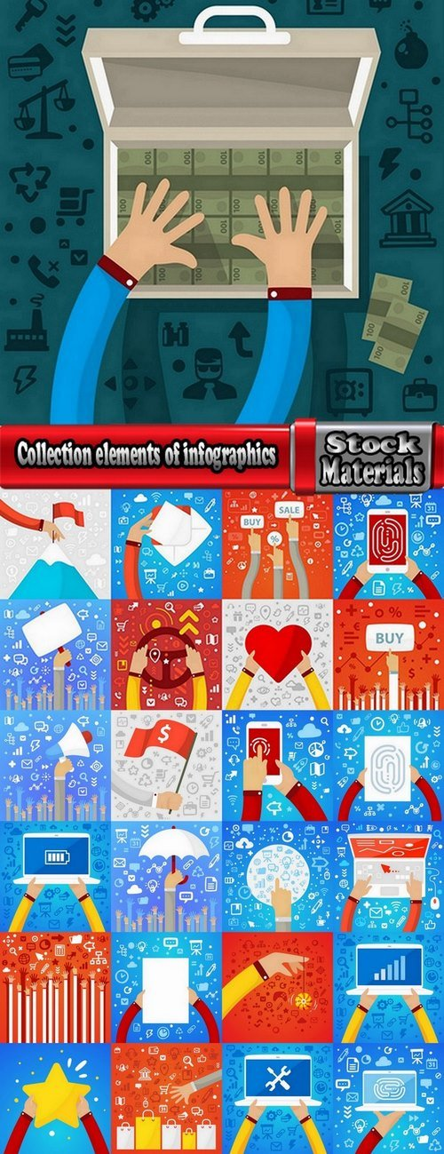 Collection elements of infographics vector image #5-25 Eps