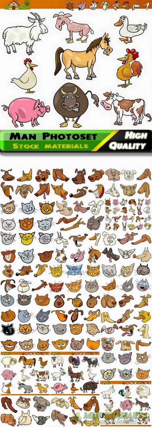 Funny cartoon animals in vector from stock #5 - 25 Eps