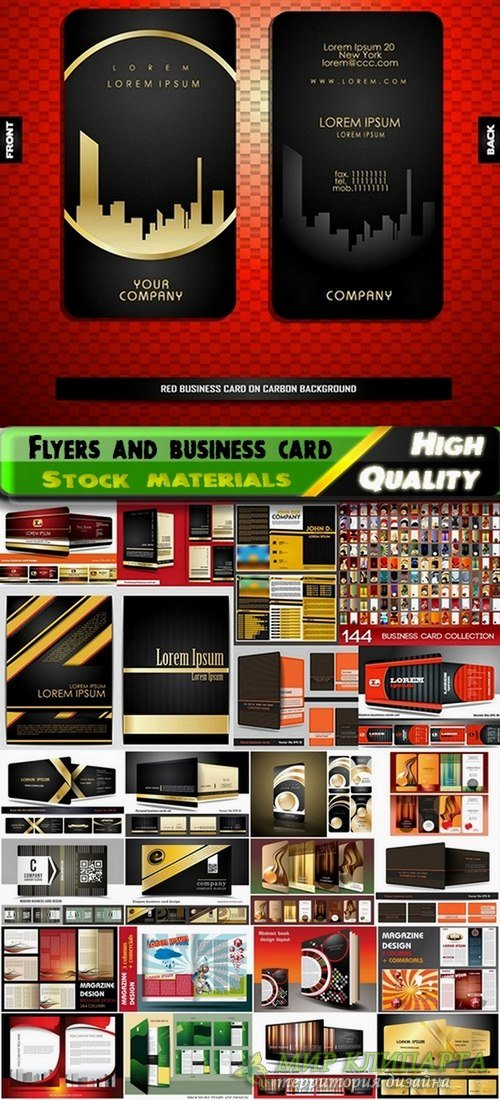 Flyers and business card template design - 25 Eps