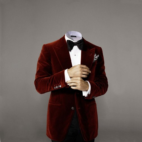 Photoshop шаблон - В красном костюме
