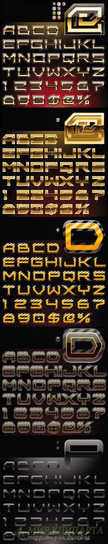 5 Luxury vector alphabets