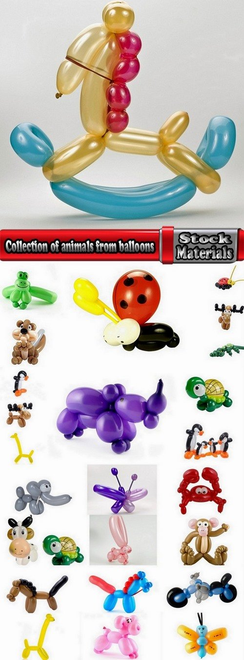 Collection of animals from balloons 25 UHQ Jpeg