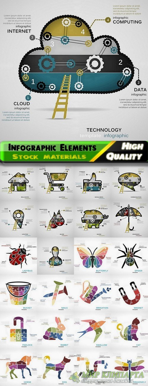 Infographic Design Elements in vector set from stock #96 - 25 Eps
