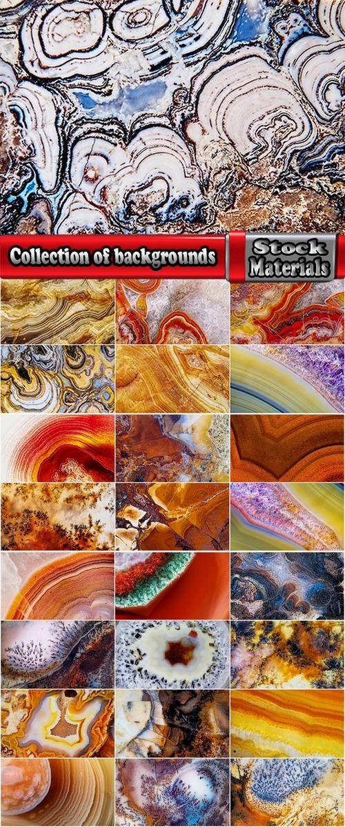 Collection of backgrounds from natural stones 25 UHQ Jpeg