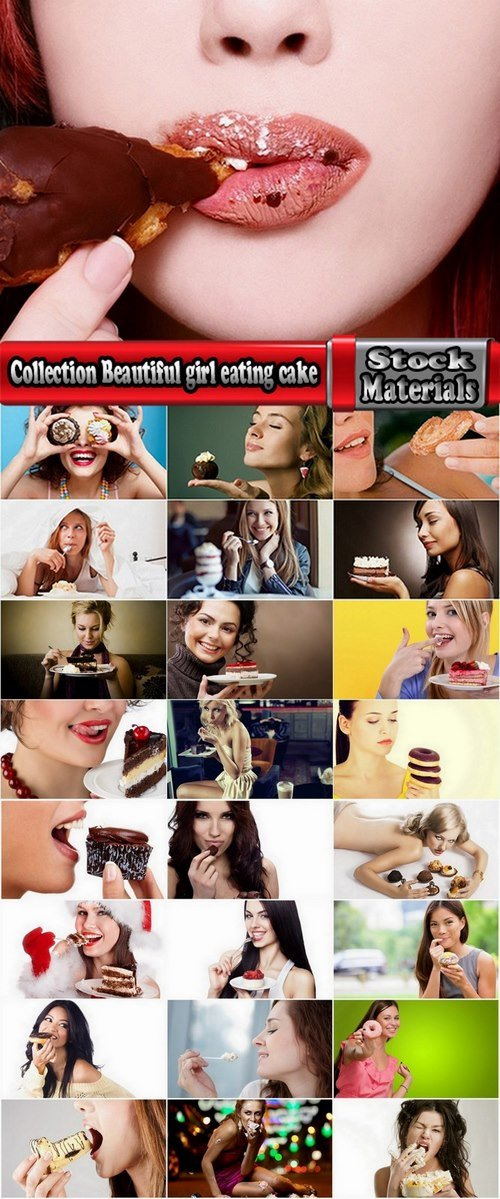 Collection Beautiful girl eating cake 25 UHQ Jpeg