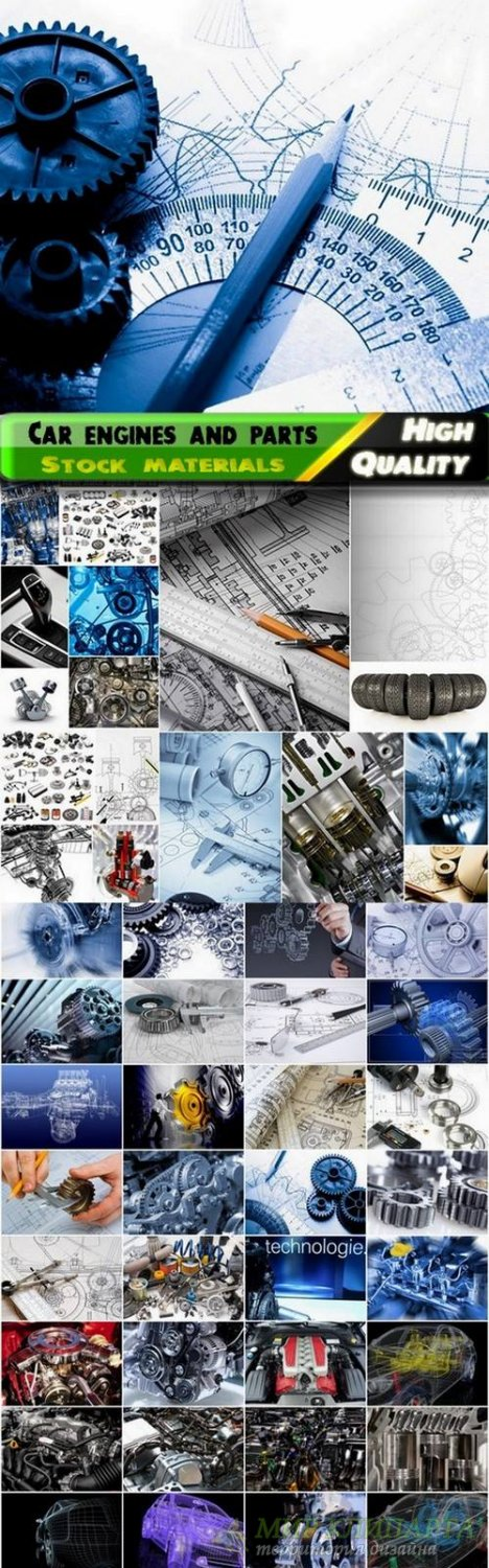 Car engines and parts drawings Stock images - 25 HQ Jpg