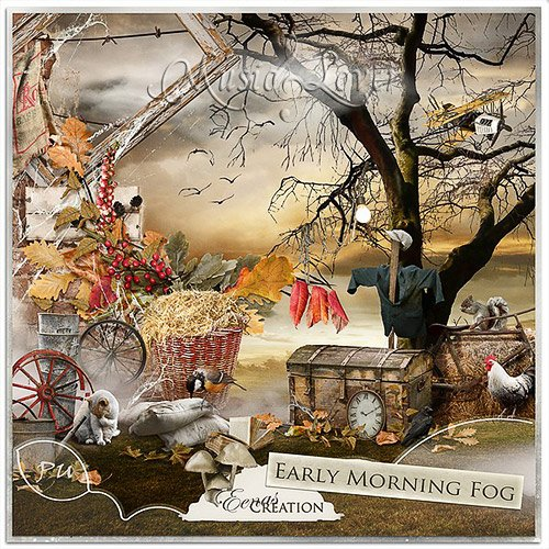 Скрап-набор - Early Morning Fog