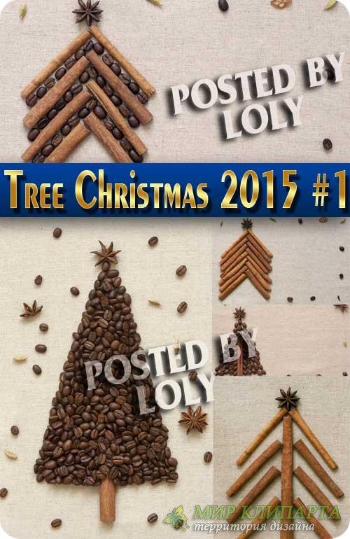 Новогодние елки 2015 #1 - Растровый клипарт