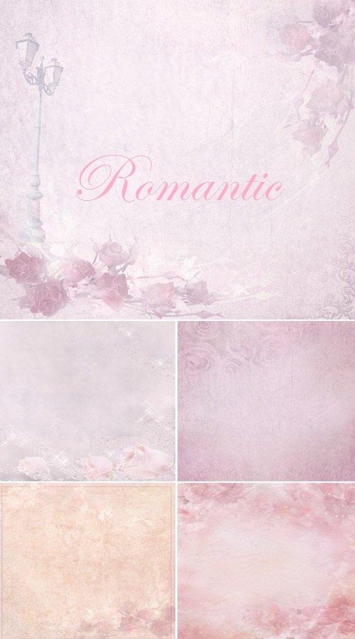 Романтические розовые фоны