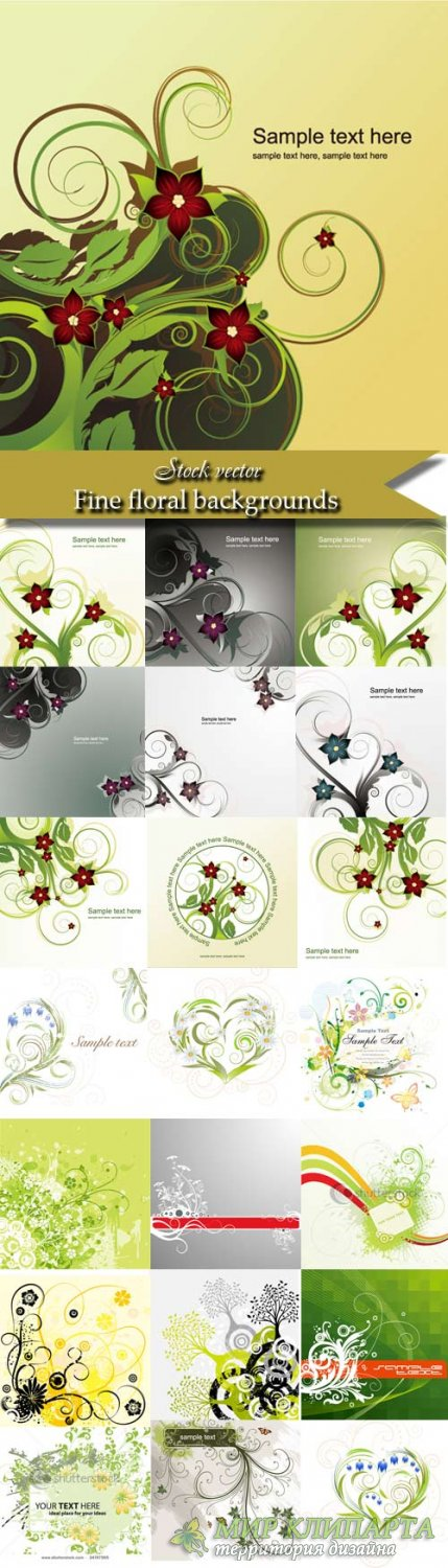 Fine floral backgrounds