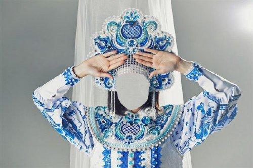 Шаблон для фотошопа - В традиционном наряде