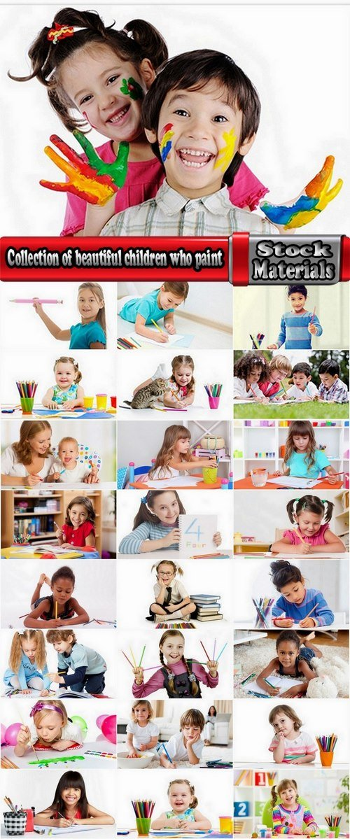 Collection of beautiful children who paint 25 UHQ Jpeg