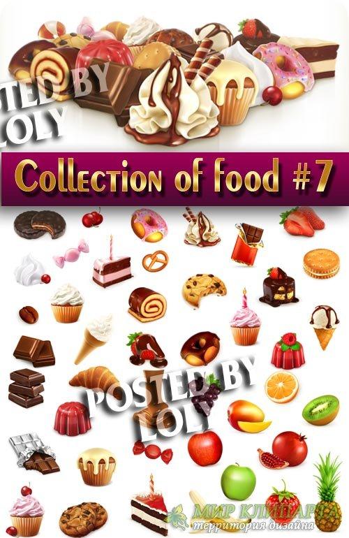 Еда в векторе. Мега коллекция #7 - Векторный клипарт