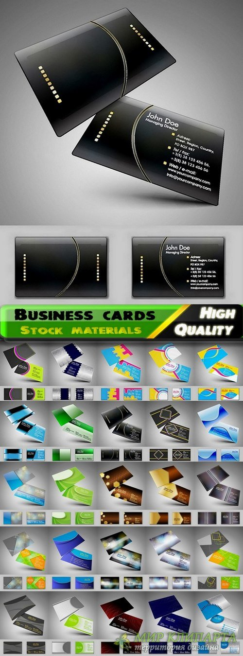 Business cards Template design in vector from stock #16 - 25 Eps
