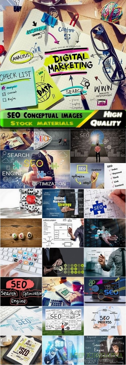 SEO Conceptual images from stock - 25 HQ Jpg