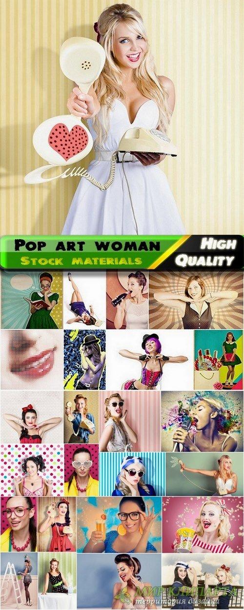 Pop art woman Stock images - 25 HQ Jpg