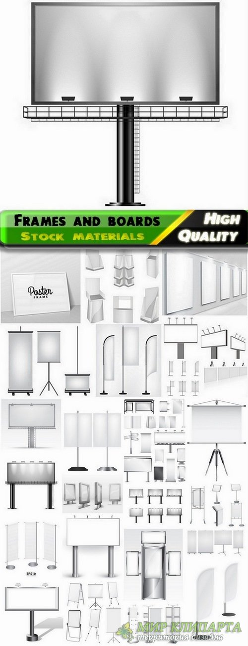 Different frames and boards for advertising - 25 Eps