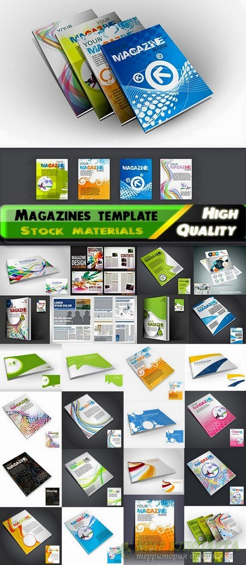 Magazines template design in vector from stock - 25 Eps