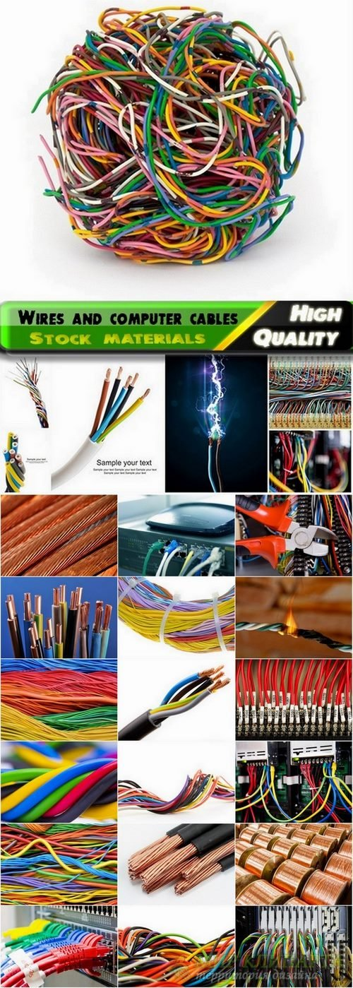 Wires and computer cables Stock images - 25 HQ Jpg