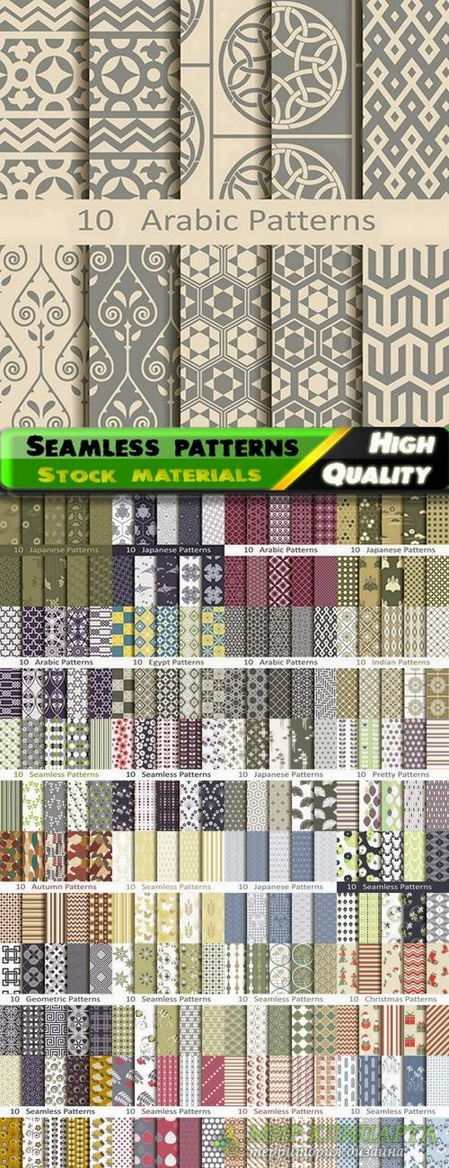 Abstract  Seamless patterns in vector set from stock #22 - 25 Eps