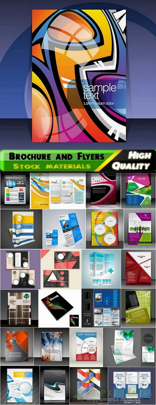 Brochure and Flyers Template Design in vector from stock #27 - 25 Eps