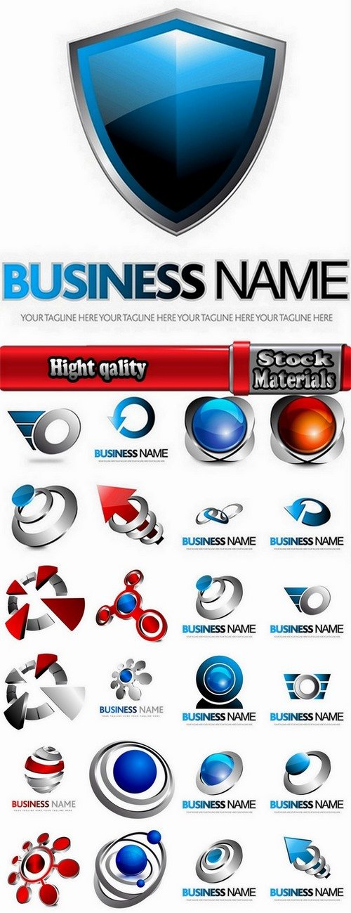Collection of different business logo 25 Eps
