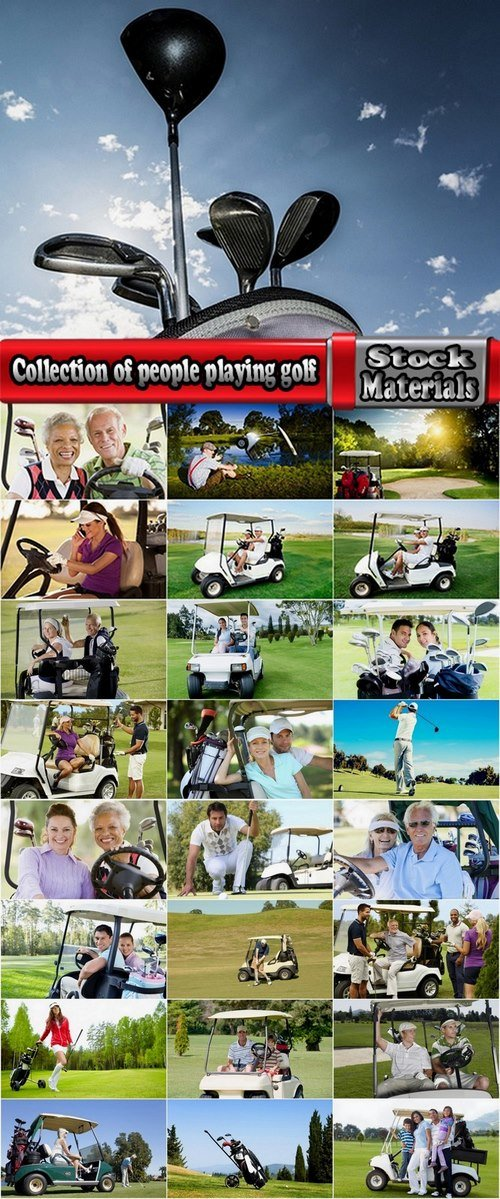 Collection of people playing golf 25 UHQ Jpeg