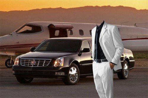 Шаблон psd мужской - Богатый бизнесмен в белом костюме