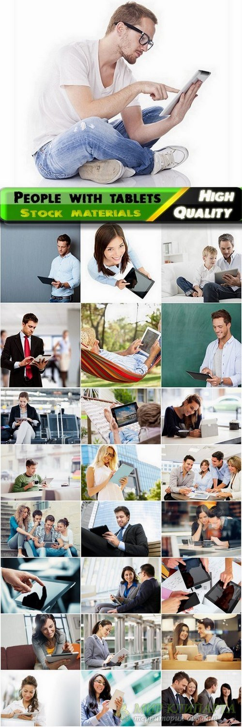 People with tablets Stock images - 25 HQ Jpg