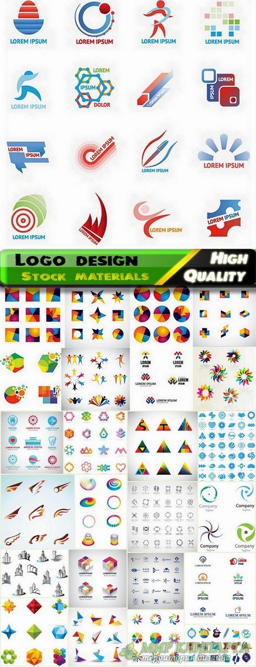 Logo Design in vector Set from stock #44 -  25 Eps