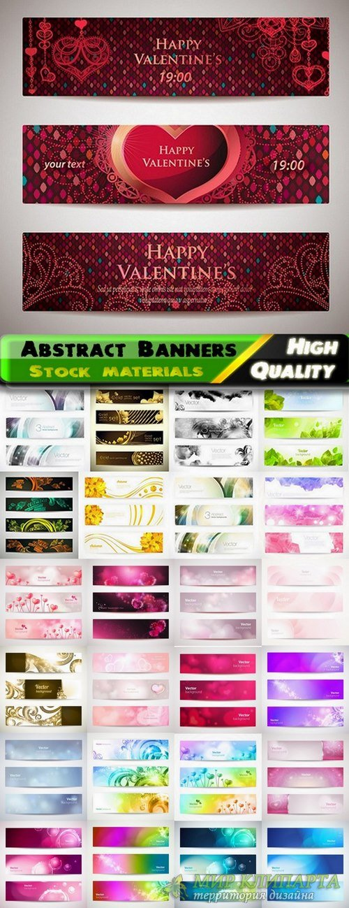 Abstract Banners in vector set from stock #14 - 25 Eps