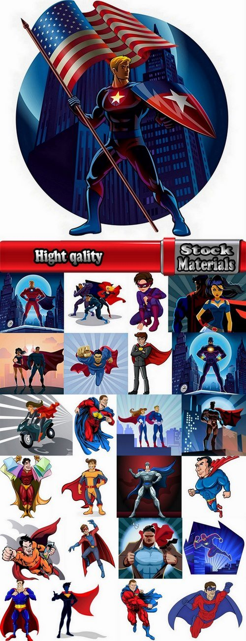 Collection of cartoon super heroes 25 Eps