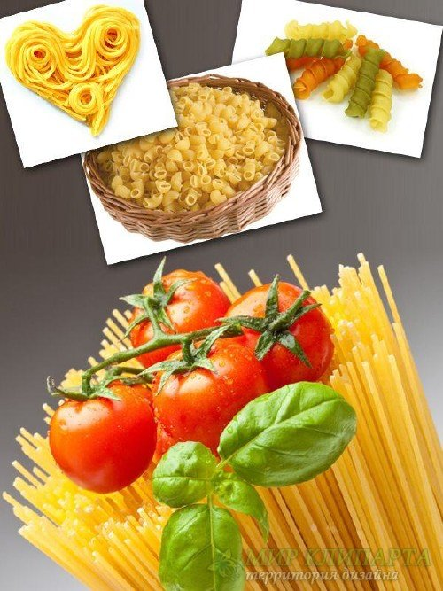 Сырые макароны и рожки (подборка изображений)