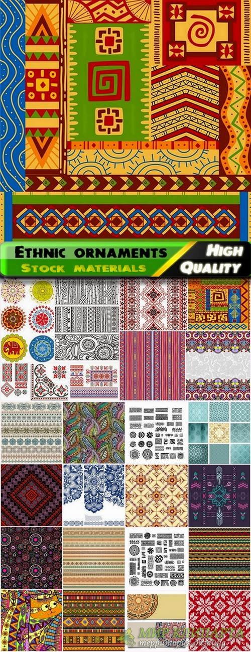 Ethnic ornaments and patterns in vector from stock - 25 Eps