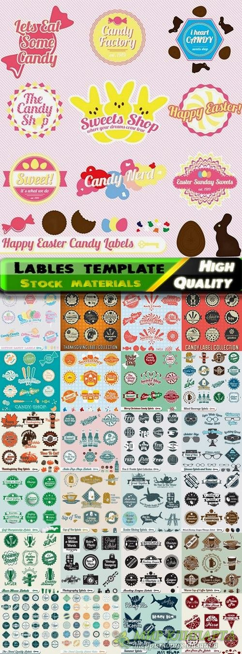 Lables template design in vector from stock set #19 - 25 Eps