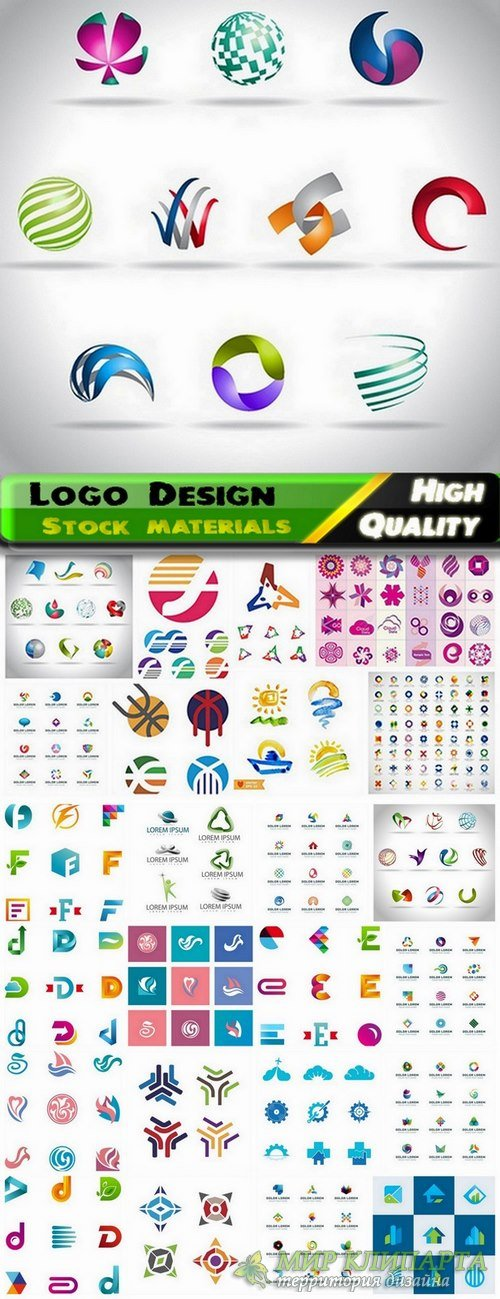 Logo Design in vector Set from stock #46 -  25 Eps