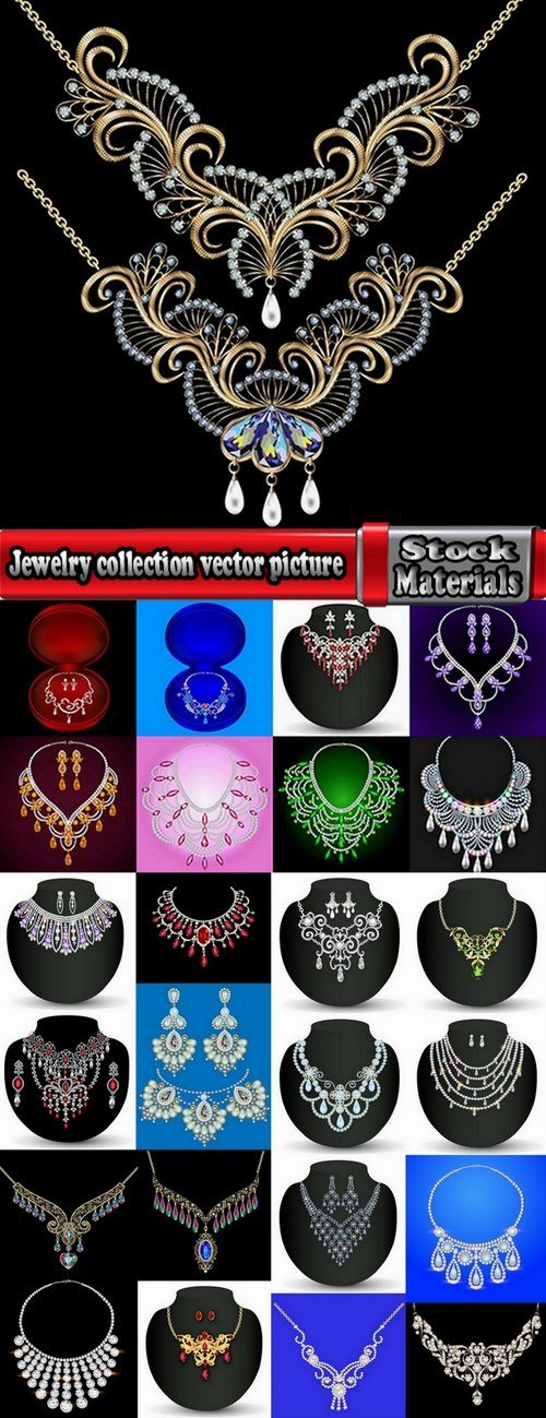 Jewelry collection vector picture 25 Eps