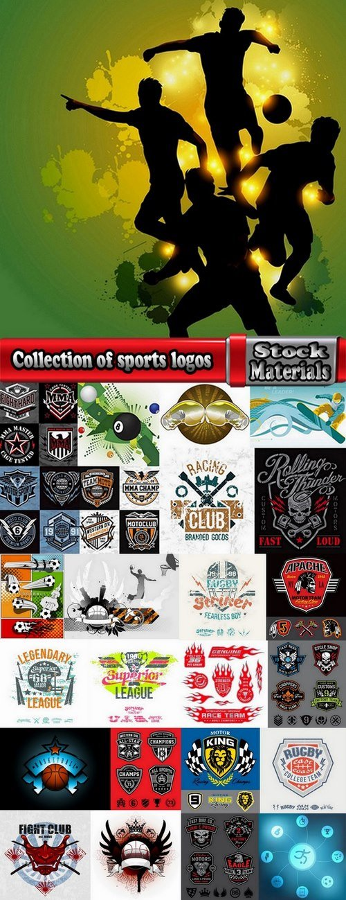 Collection of sports logos 25 Eps